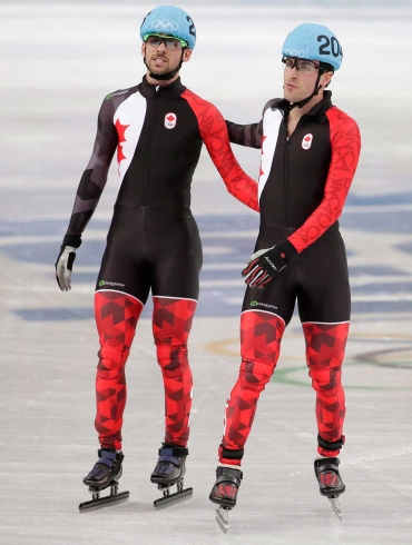 Canada crashed out of the men's short track relay in Sochi.