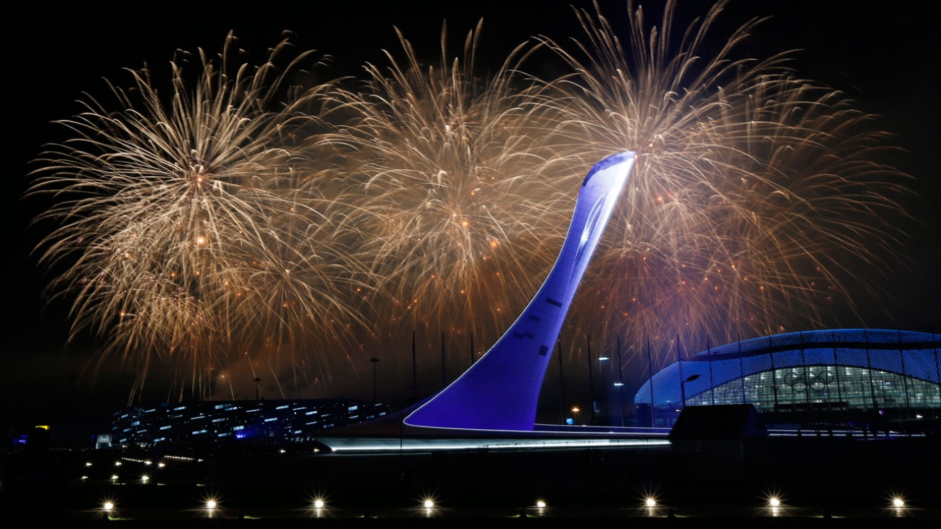The flame goes out at the cauldron, bringing Sochi 2014 to an end following the Closing Ceremony.