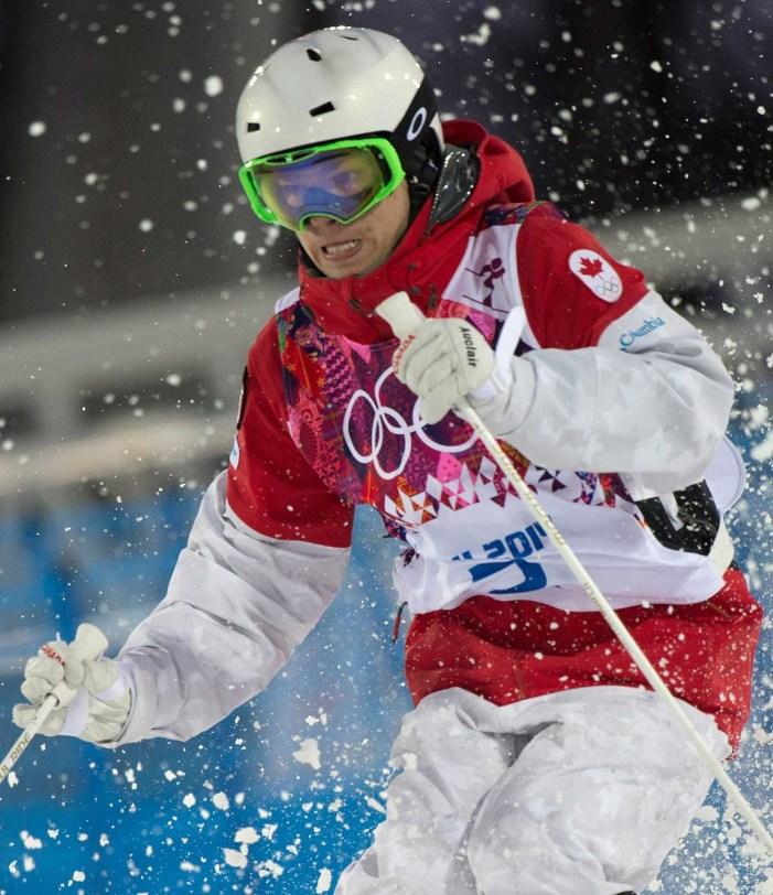 Mikaël Kingsbury during a moguls run in Sochi.