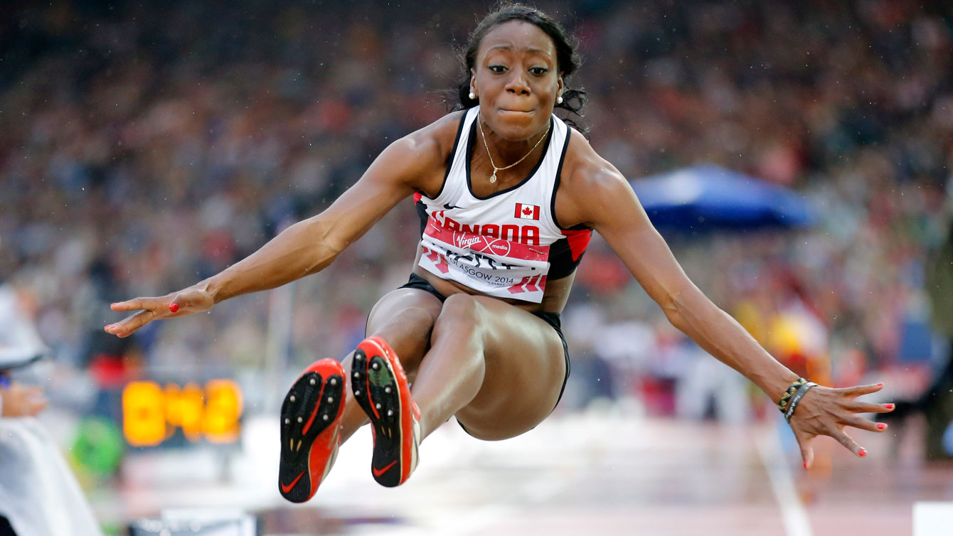 Christabel Nettey at the Glasgow 2014 Commonwealth Games.