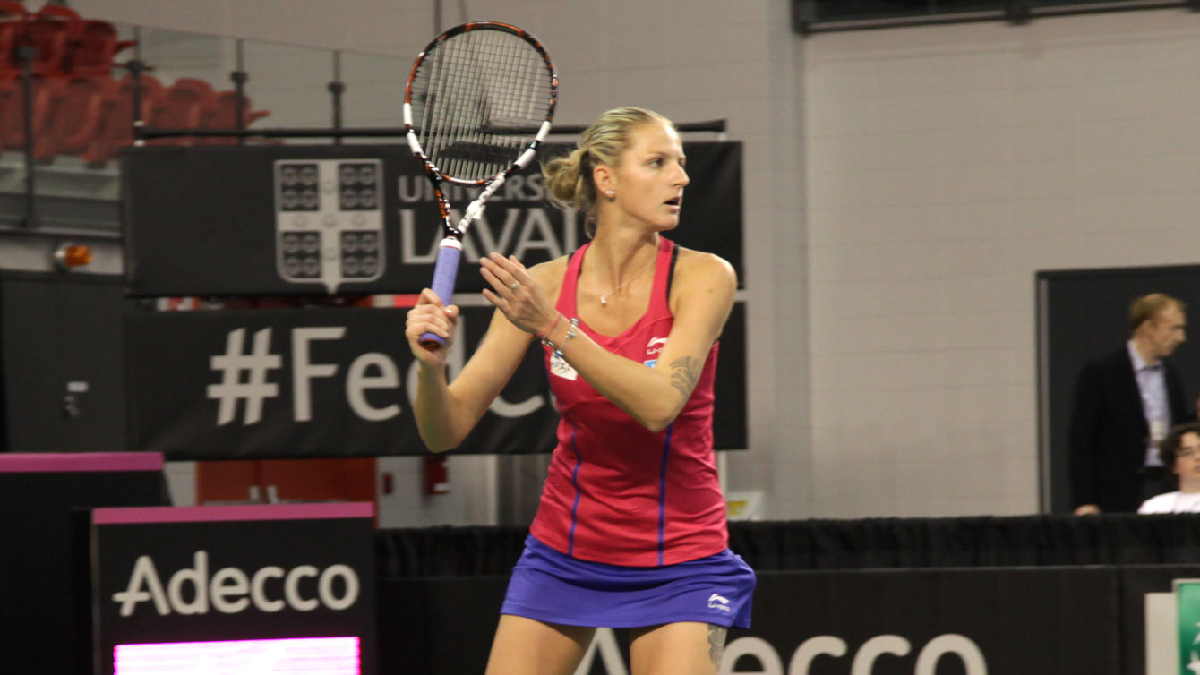 Karolina Pliskova asserted her dominance quickly after falling behind 4-1 in the opening set.