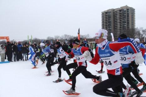 Winter triathlon starting line (Photos: Ginette Babin)