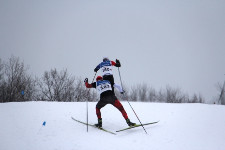 The third and last step: cross-country skiing