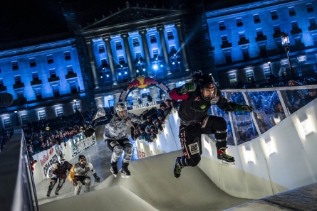 These massive rollers are one of many obstacles that skaters must pass through. (Photo: Joerg Mitter/Red Bull Content Pool)