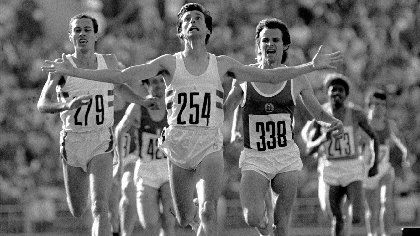 Sebastian Coe edges out Steve Ovett for the 1500m gold in Moscow 1980.