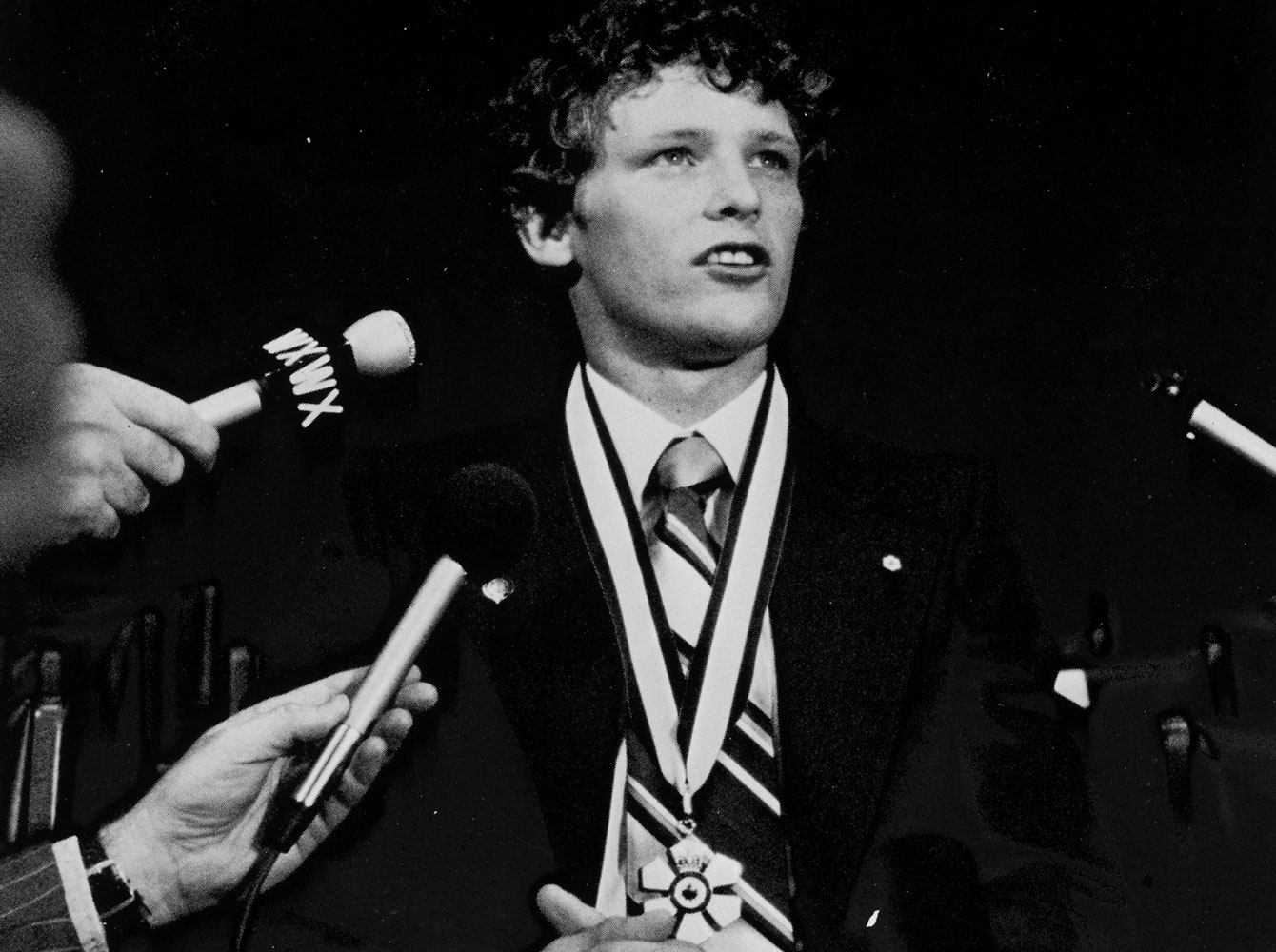 Terry Fox received the Order of Canada in September 1980, shortly after he had to abandon his Marathon of Hope.