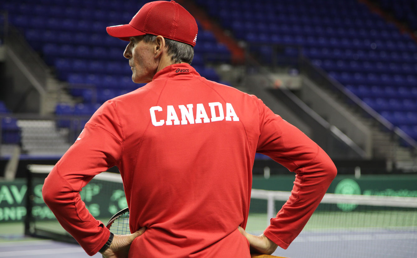 Team Canada captain Martin Laurendeau looks on during practice on Wednesday.