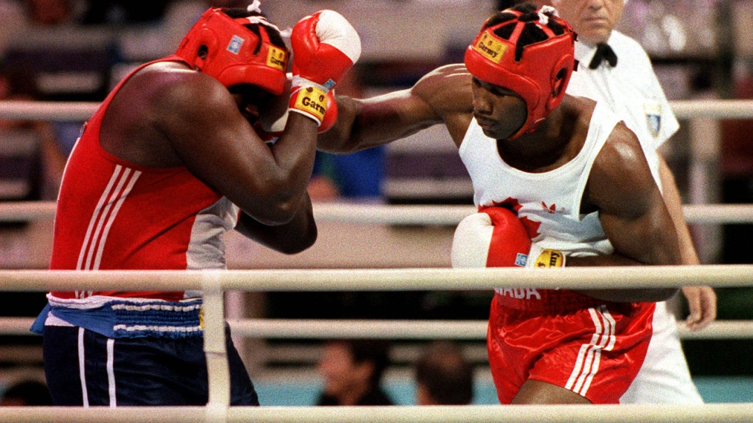 Lennox Lewis boxing