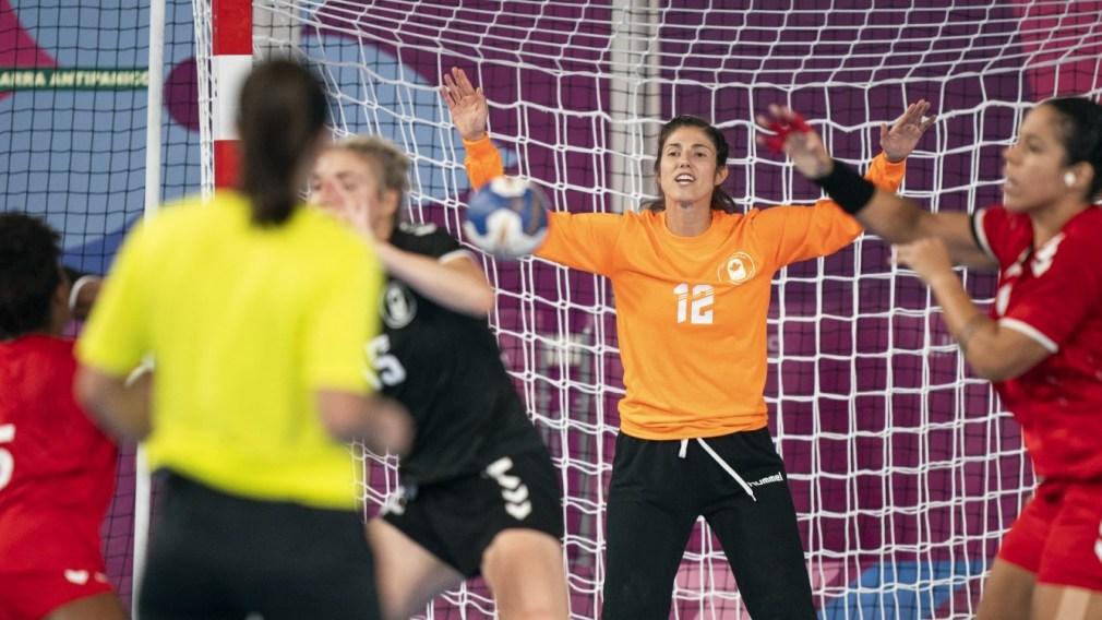 Vassilia Gagnon of Canada watches the shot