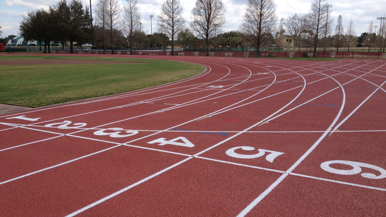 The track at the Disney Sports Complex in Orlando, Florida where the likes of U.S. 110-metre hurdler David Oliver trains.