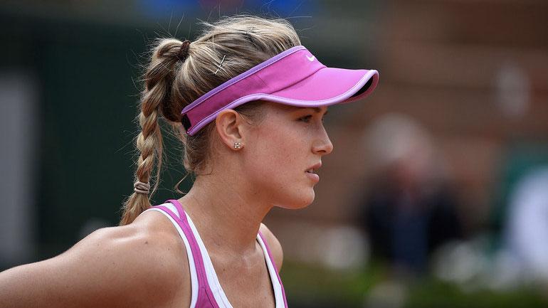 Eugenie Bouchard at 2015 French Open (photo via rolandgarros.com).