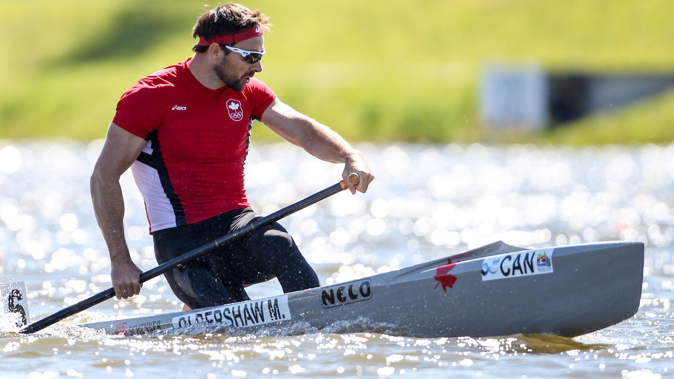 Mark Oldershaw in action at the 2015 ICF sprint World Cup in Portugal on May 17, 2015 (photo: Balint Vekassy/CanoeKayak Canada).