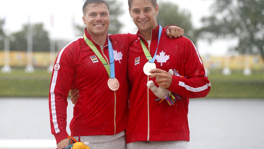 pierre luc poulin and mark de jonge at the pan american games in Toronto