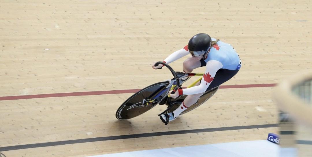 Canada's Amelia Walsh around track