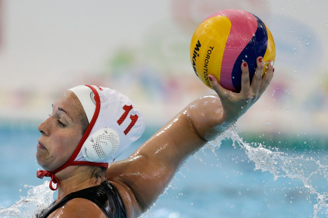 The women's water polo team won silver today. (Photo: Canadian Press)