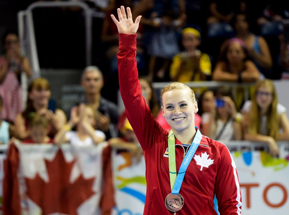 Ellie Black vaulted her way to bronze today. (Photo: Canadian Press)