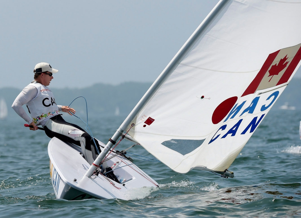 Lee Parkhill sailed his way to bronze in the men's Laser. (Photo: Canadian Press)