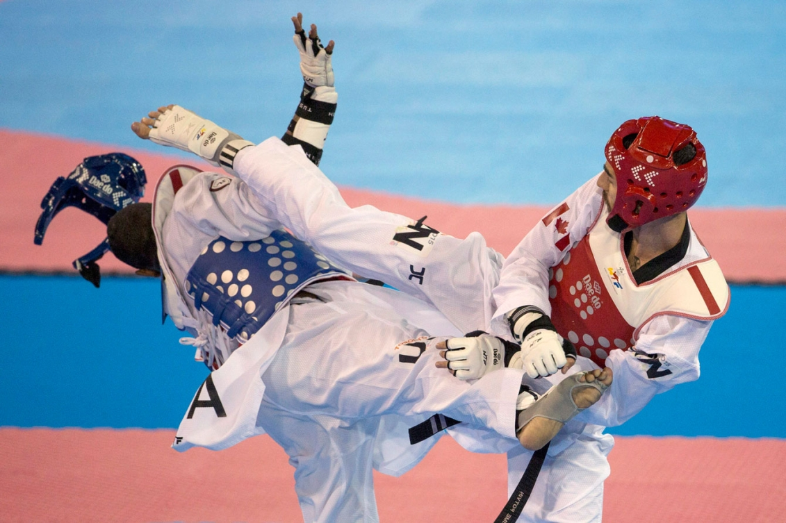 Maxime Potvin fought to silver medal in the men's -68kg category.