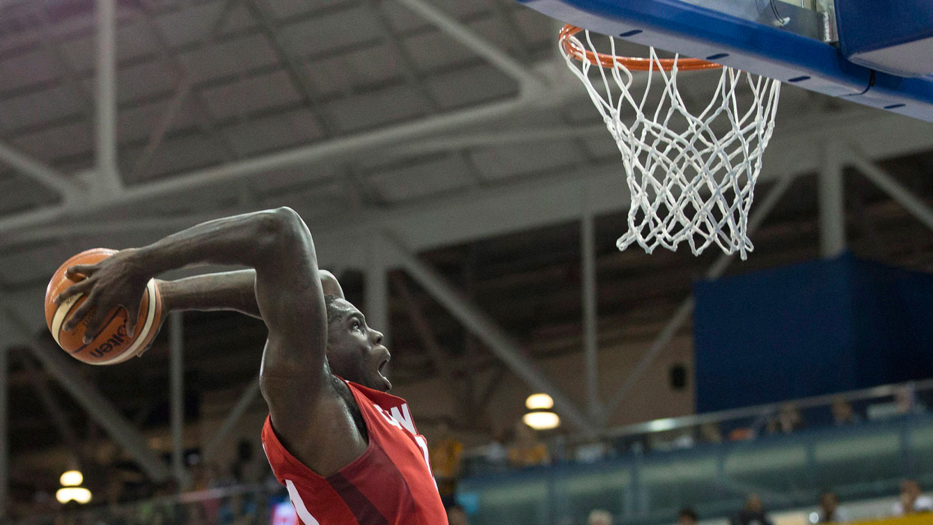 Anthony Bennett led Canada in scoring in the first half of the men's basketball gold medal match vs Brazil.
