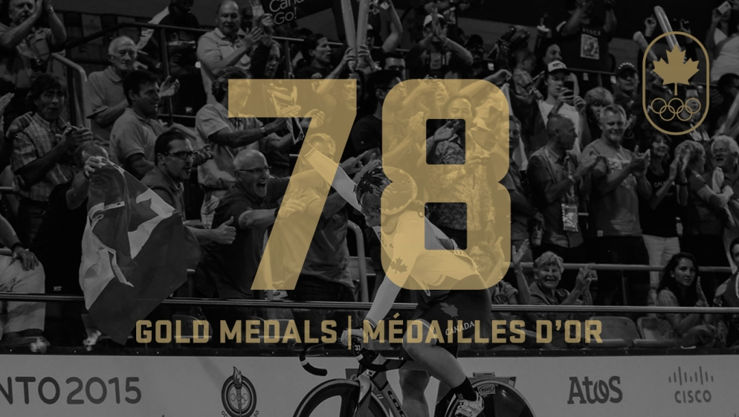 78 Gold - TO2015 Pan American Games Canada Gold