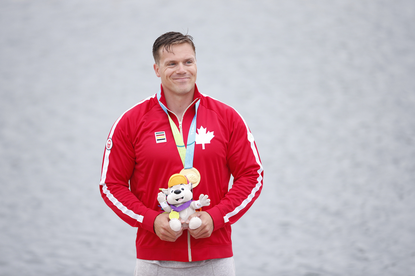 Mark De Jonge won Canada's first gold medal of day four (July 14).