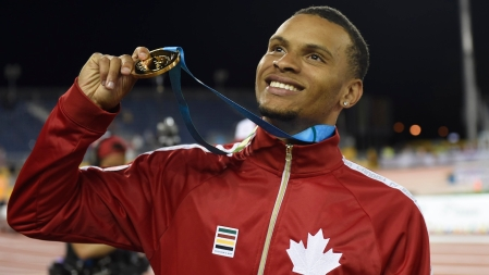 De Grasse with his gold medal