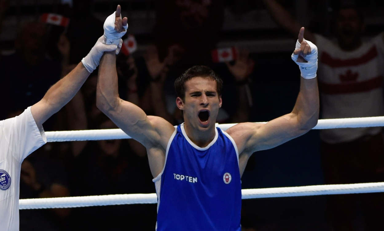 Arthur Biyarslanov boxed his way to TO2015 gold in the men's light welter (64kg) division on July 24.