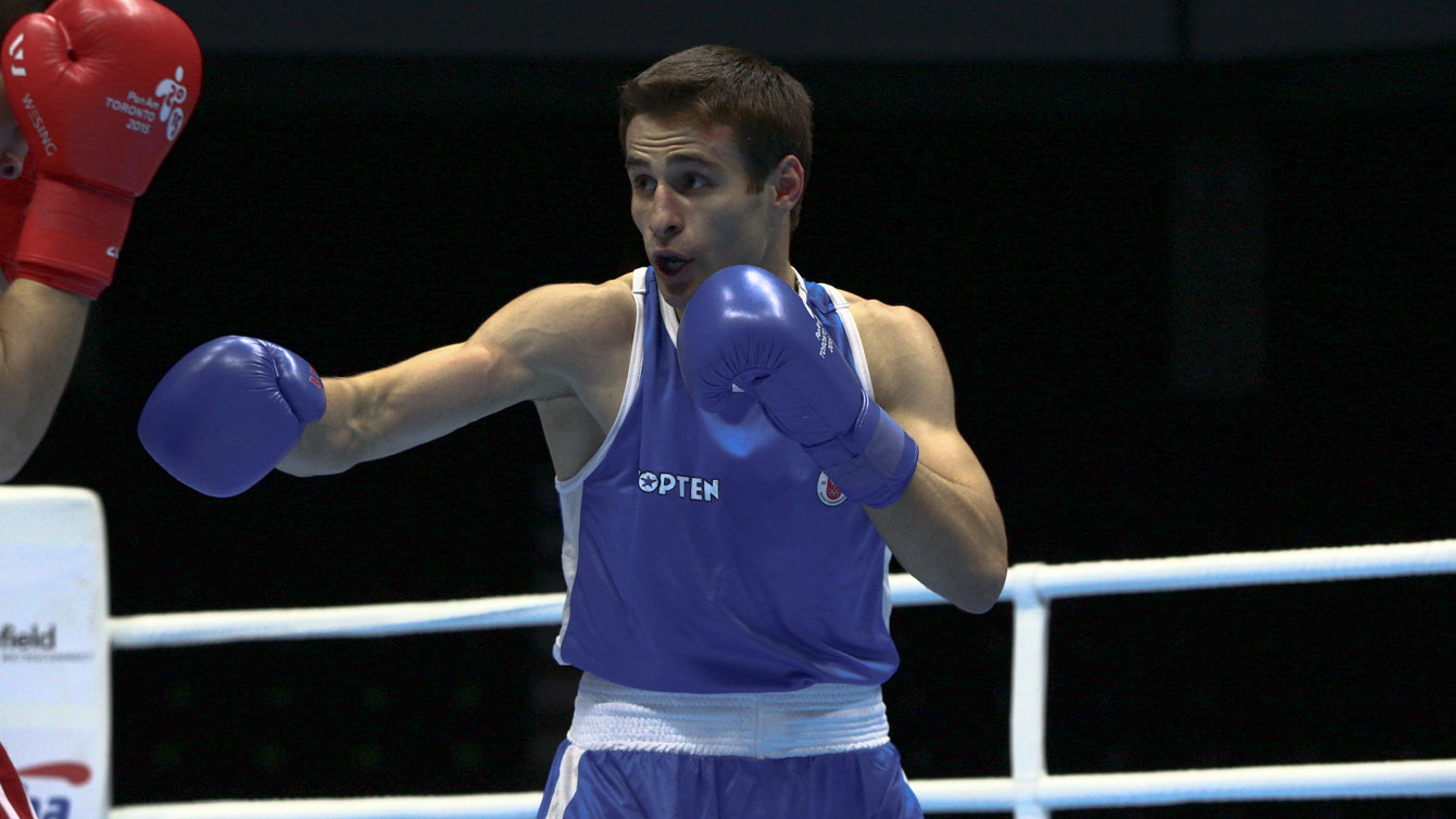 Arthur Biyarslanov fights in the Light Welterweight 64kg preliminary round at TO2015
