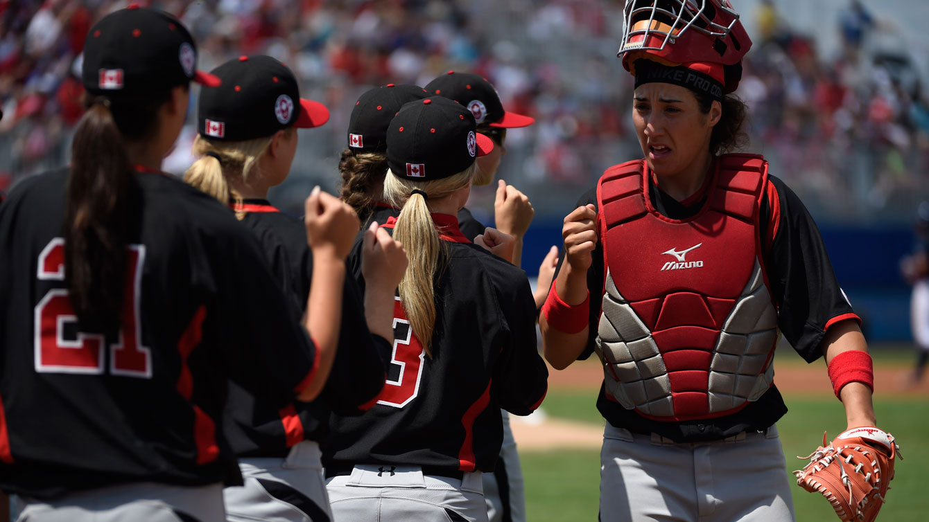 The Canadian women's baseball team won TO2015 silver on Day 16.