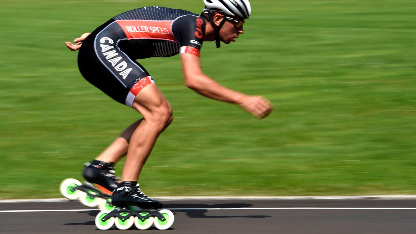 Jordan Belchos competing at TO2015