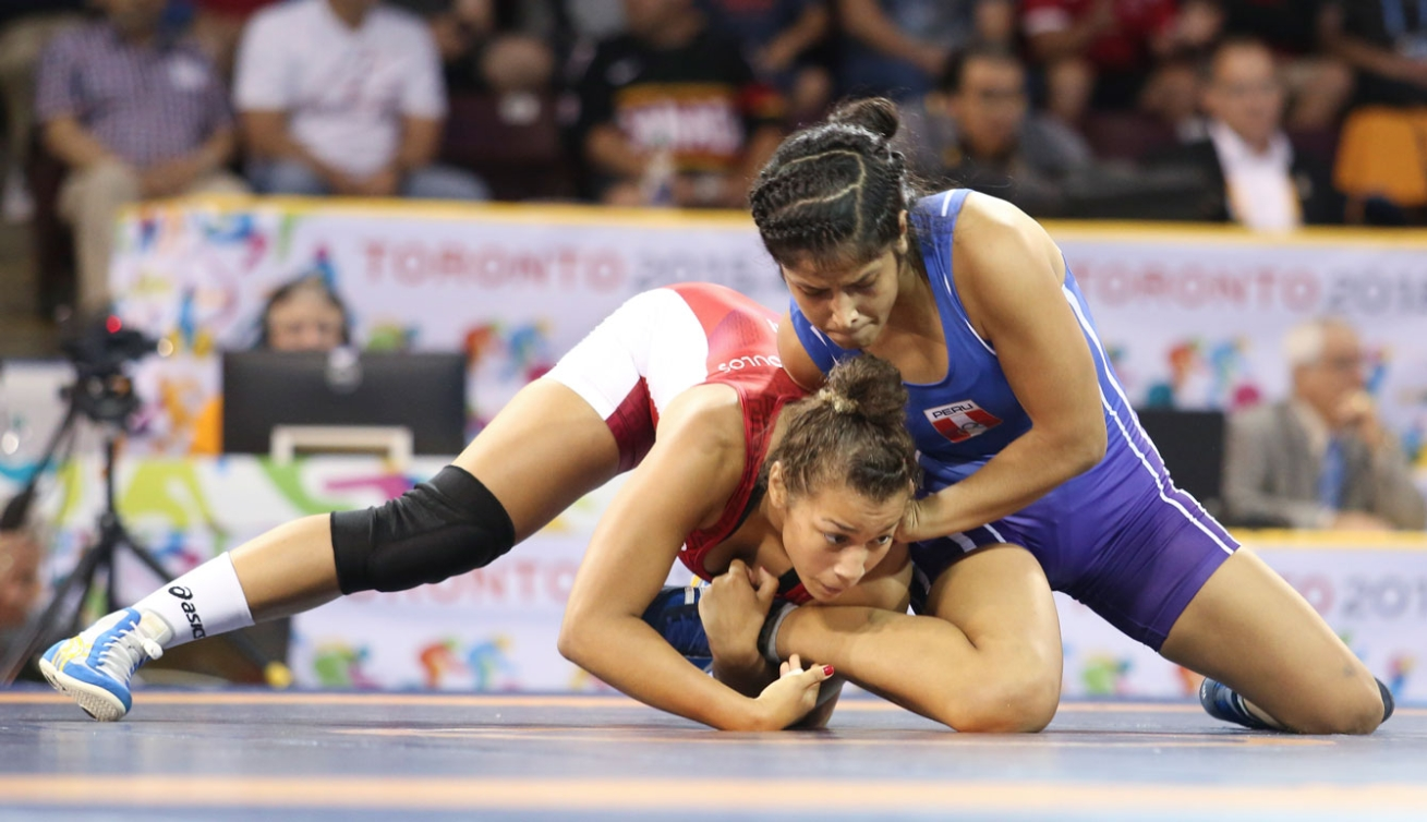 Braxton Stone-Papadopoulos wrestled the gold medal away from a Cuban fighter in the women's 63kg weight class. (Photo: Mike Ridewood)