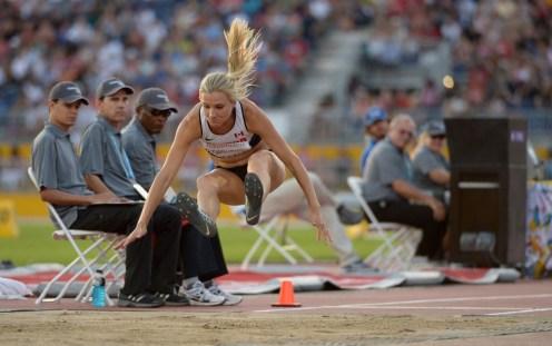Brianne Theisen-Eaton competing