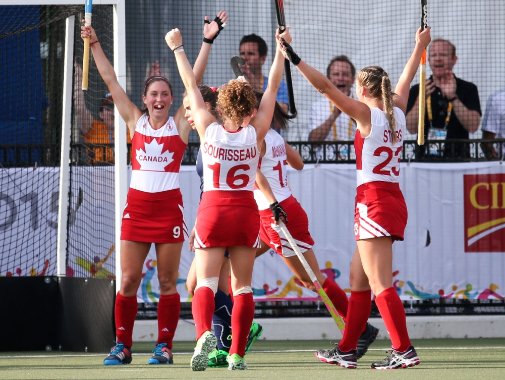 The women's field hockey team defeated Chile 1-0 to win TO2015 bronze on July 24.