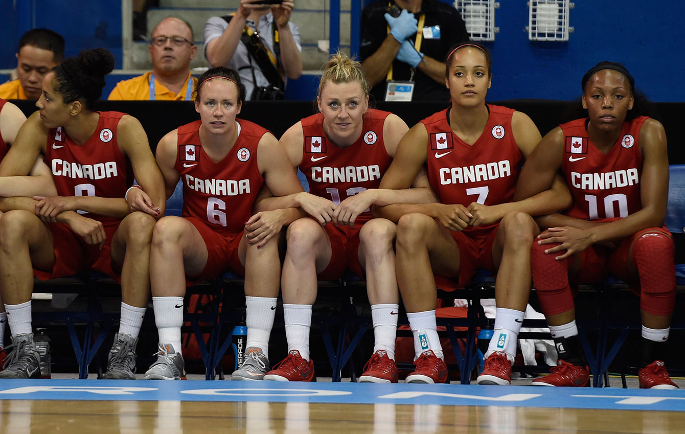 The Canadians managed a comeback to tie the gold medal game before the half.