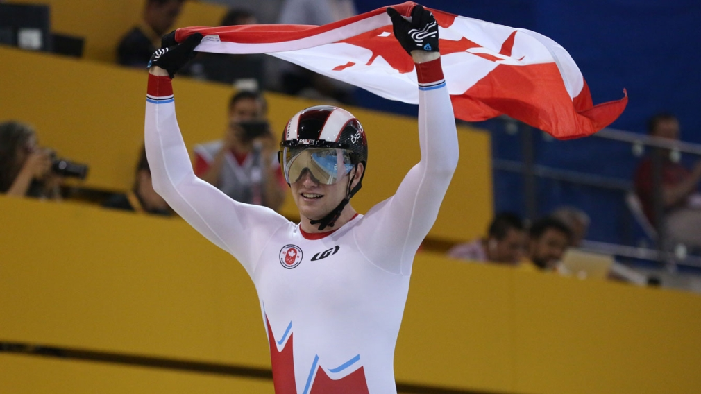 Golden sweep for Canada in TO2015 track cycling team sprints