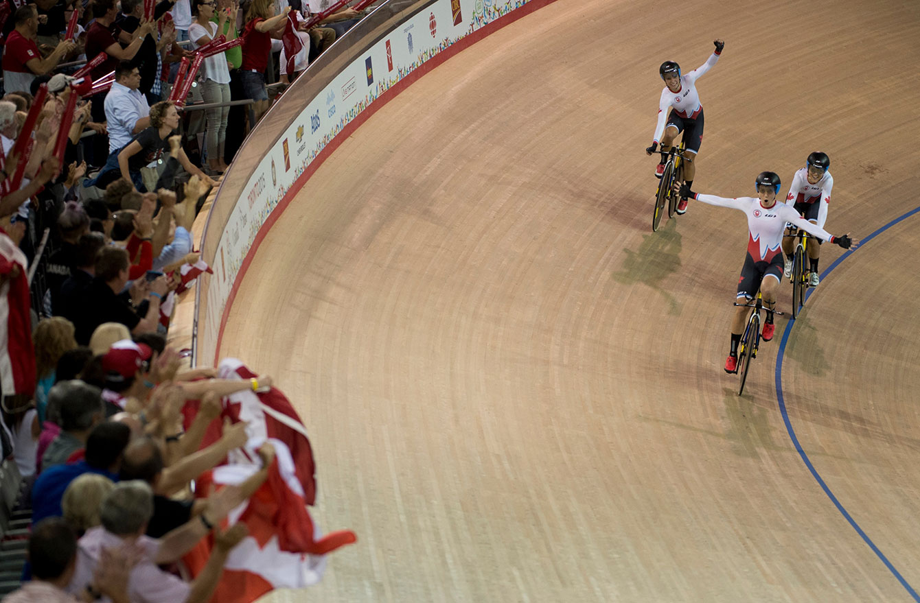Track yclists dominated the Milton Velodrome - their new home and a TO2015 legacy venue - winning six of 10 races, medalling in nine at the Pan Am Games.