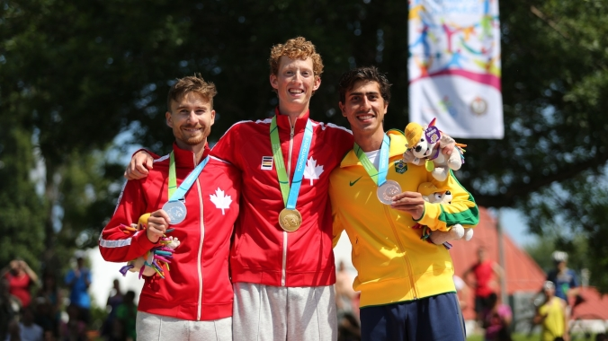Inaki Gomez, Evan Dunfee and Caio Bonfim
