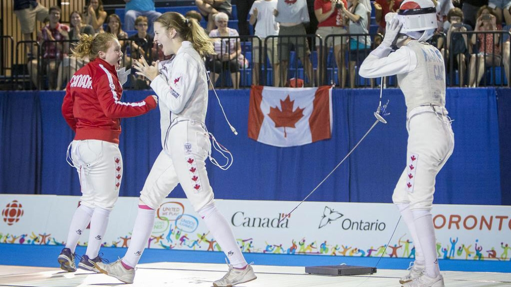Canada's female foil fencers are golden at TO2015