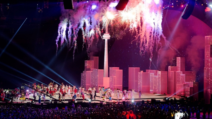 Fireworks at TO2015 closing ceremony