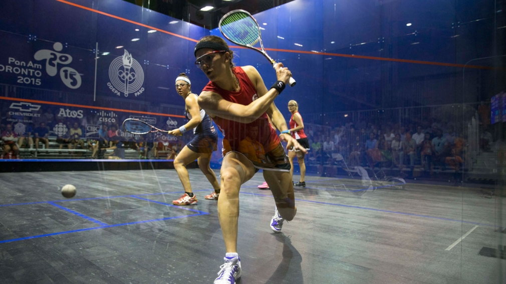 Double silver for doubles squash at Toronto 2015