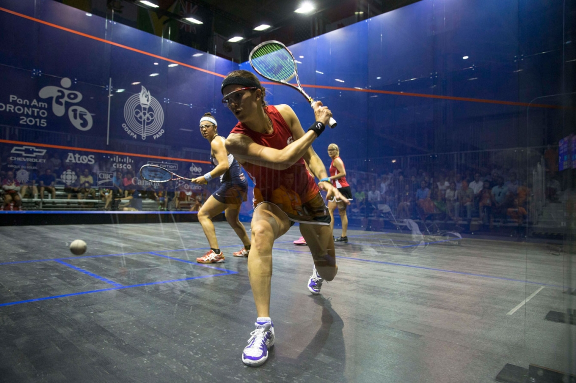 The doubles team of Samantha Cornett and Nikole Todd took silver in women's doubles squash.