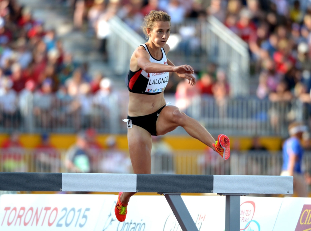 Geneviève Lalonde won TO2015 bronze in the women's steeplechase on Day 14.