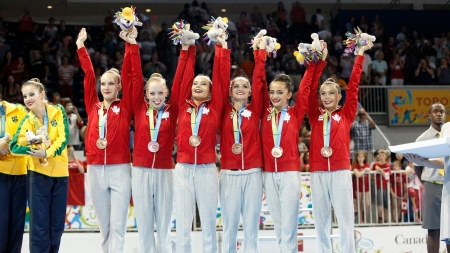 Canada wins bronze in Rythmic Gymnastics Ribbon at the Pan Am Games.