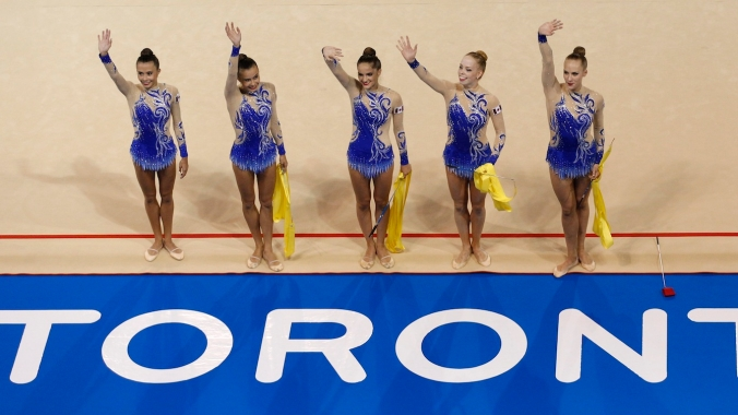 Canada earned a bronze medal in the Rythmic Gymnastics Ribbon event at the Pan Am Games.