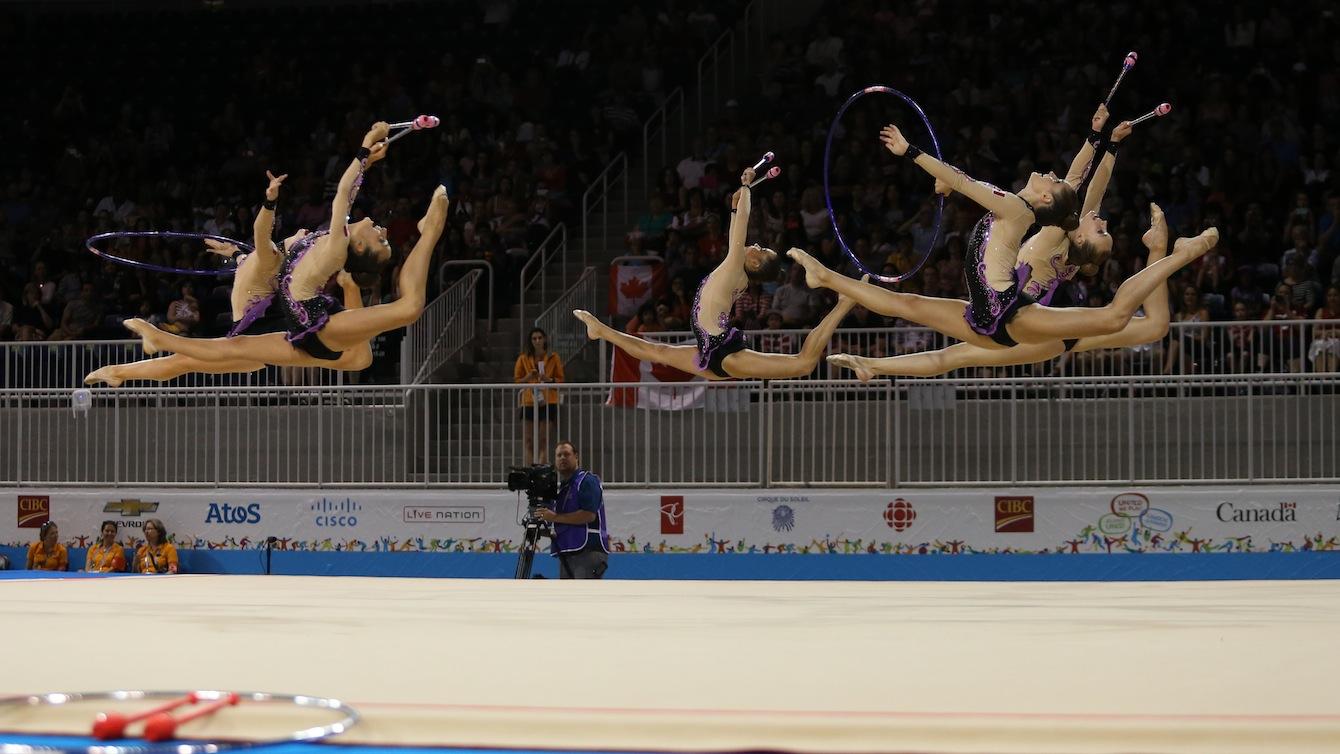 Team Canada in group rhythmic gymnastics