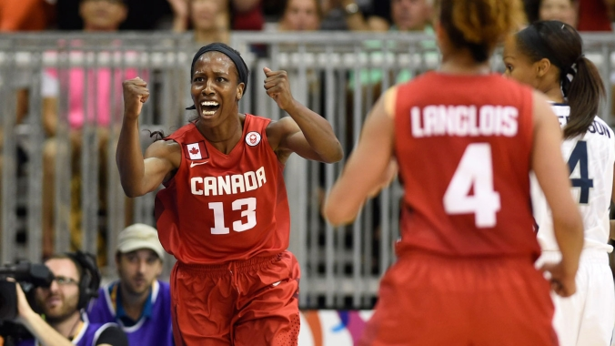 Tamara Tatham helped Canada defeat the USA for women's basketball gold at TO2015.