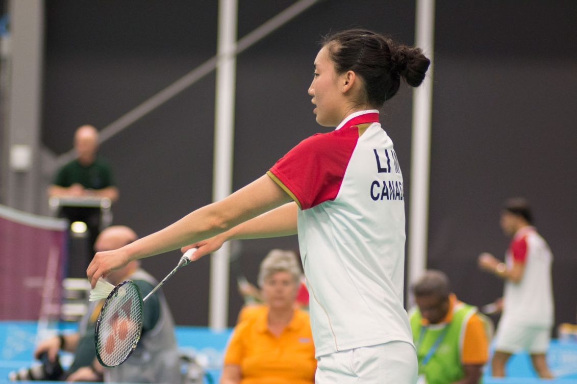 Michelle Li won one a women's doubles bronze today and will play for women's singles gold tomorrow.