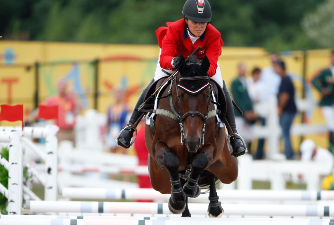 Jessica Phoenix rode her horse Pavarotti to an eventing silver medal. (Photo: David Jackson)