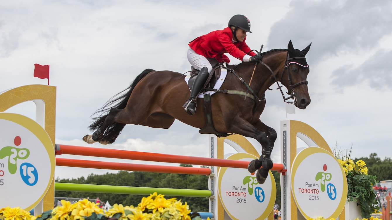 Jessica Phoenix competing at the Toronto 2015 Pan Am Games.