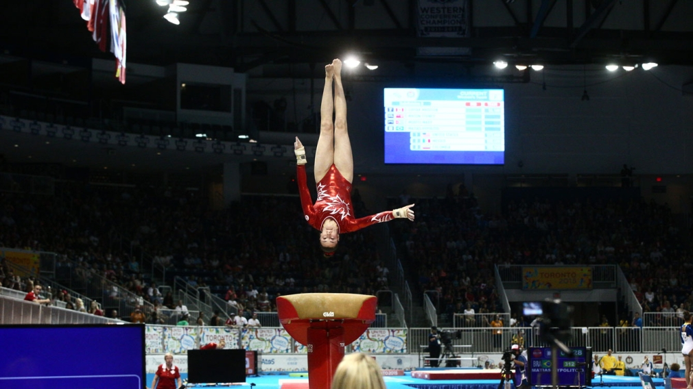 Canadian crowd helps carry gymnasts to silver